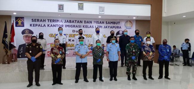 Aspotmar Danlantamal X Hadiri Sertijab Kepala Kantor Imigrasi Kelas I TPI Jayapura 113