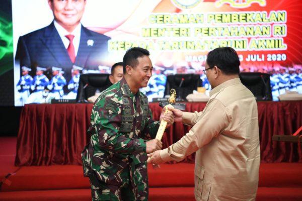Kasad Dampingi Menhan RI Kunjungan Kerja ke Akademi Militer 113