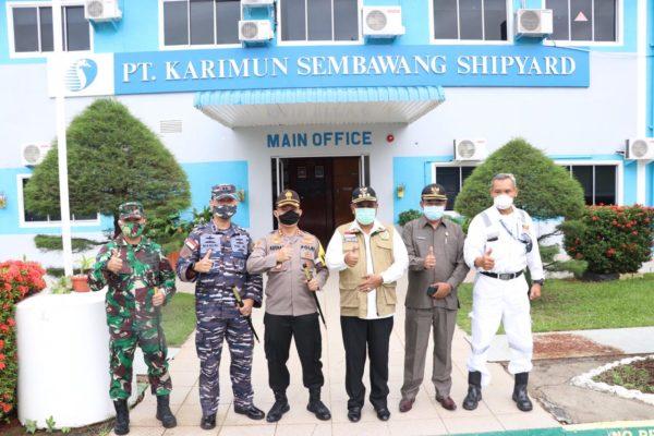 Kapolres Karimun Hadiri Peresmian Industri Tangguh Seligi 2020 di PT Karimun Sembawang Shipyard 101