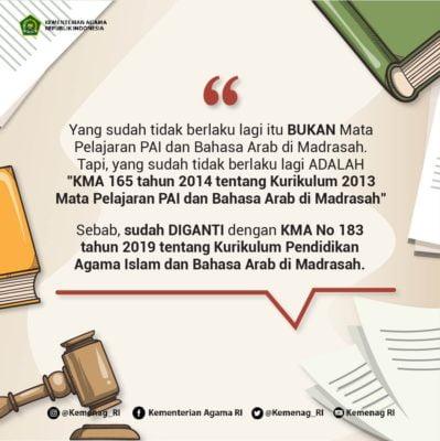 Kemenag : Tahun Pelajaran 2020/2021, Madrasah Gunakan Kurikulum PAI Baru 113