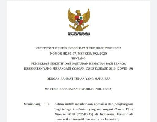 Pemerintah Sederhanakan Prosedur Pemberian Insentif dan Santunan Tenaga Kesehatan Covid-19 113