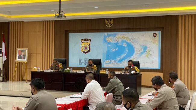 Polda Maluku Gelar Anev Ops Aman Nusa II Siwalima Tahun 2020 113