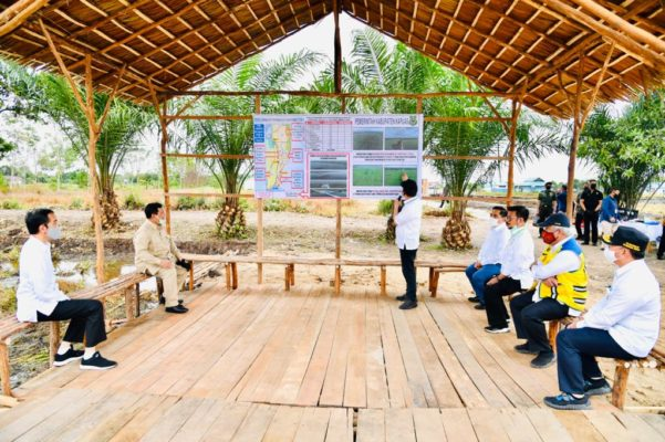 Presiden Jokowi Tinjau Lokasi Pengembangan Lumbung Pangan di Kabupaten Kapuas 113