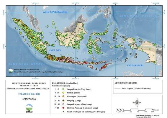 BMKG : 69% Wilayah Alami Musim Kemarau, 4 Kabupaten Berstatus AWAS Kekeringan 113
