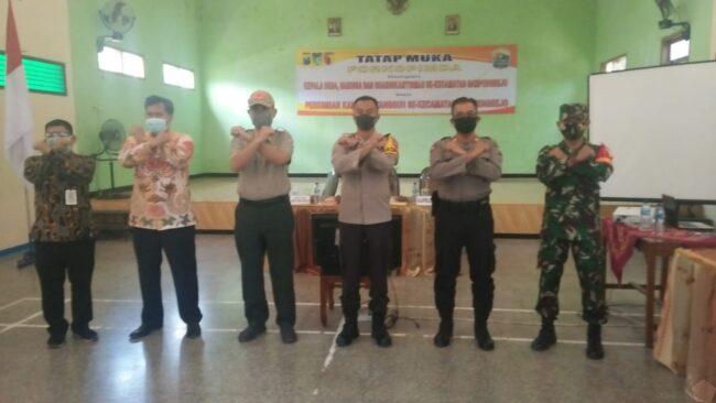 Danramil 0809/04 Ngasem Bersama Muspika dan Kapolres Kediri Launchingkan Kampung Tangguh Semeru 113