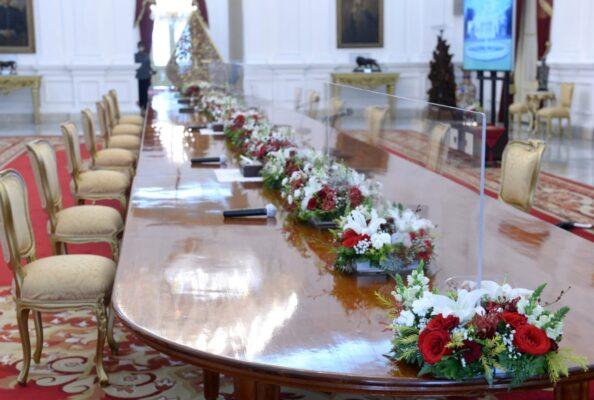 Kasetpres : Pengetatan Protokol Kesehatan Tetap Dilakukan di Istana Kepresidenan 113