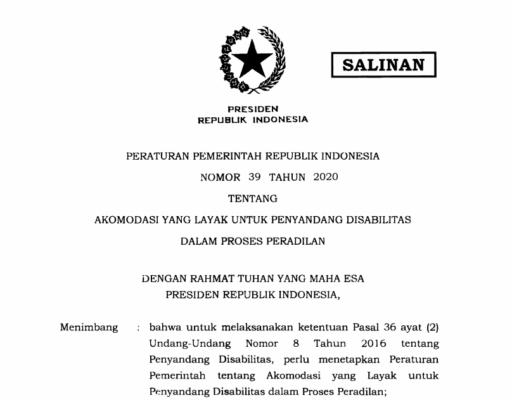 Presiden Teken PP Akomodasi Layak untuk Penyandang Disabilitas dalam Proses Peradilan 113