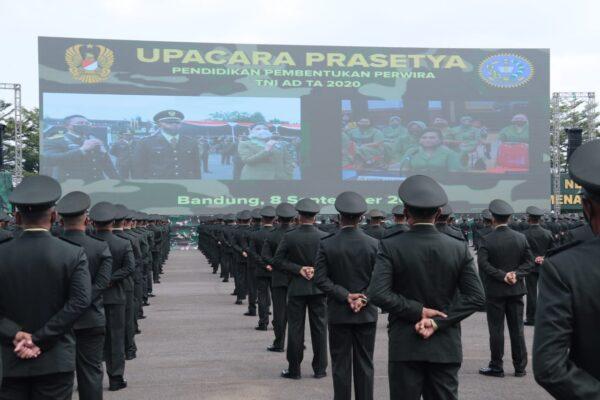 Kasad Lantik 1198 Perwira Lulusan Pendidikan Pembentukan Perwira TNI AD 115