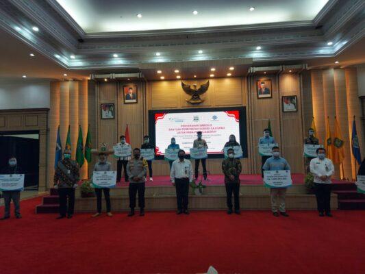 Dirbinmas Polda Banten Hadir Penyerahan Secara Simbolis Bantuan Subsidi Upah Bagi Pekerja 113
