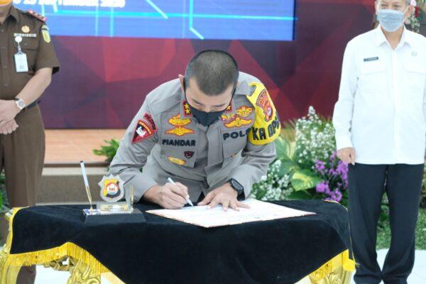 Polda Banten dan APH daerah Gelar RAPAT Koordinasi dalam rangka percepatan penyerapan anggaran Program Pemulihan Ekonomi Nasional 114
