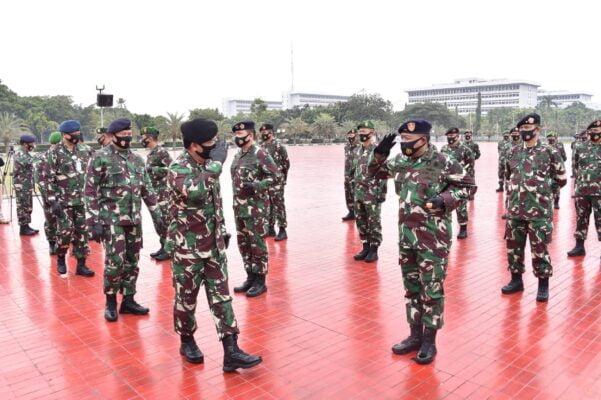 Panglima TNI Terima Laporan Korps Kenaikan Pangkat 91 Perwira Tinggi TNI 113