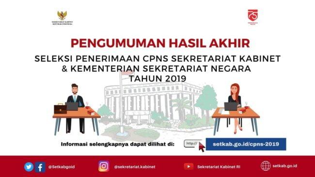 106 Peserta Dinyatakan Lulus Seleksi CPNS Sekretariat Kabinet dan Kemensetneg 2019 113