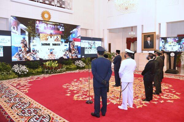 Marinir Gelar Upacara Peringatan HUT Ke 75 TNI Secara Virtual 113