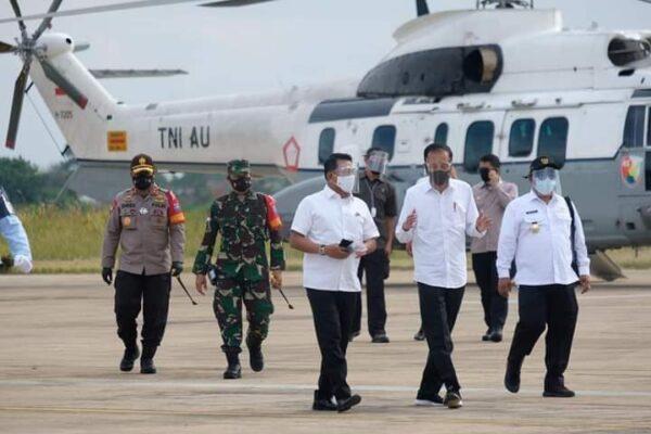 Kunjungan Kerja Presiden RI ke Pulang Pisang Didampingi Pangdam XII/Tpr 113