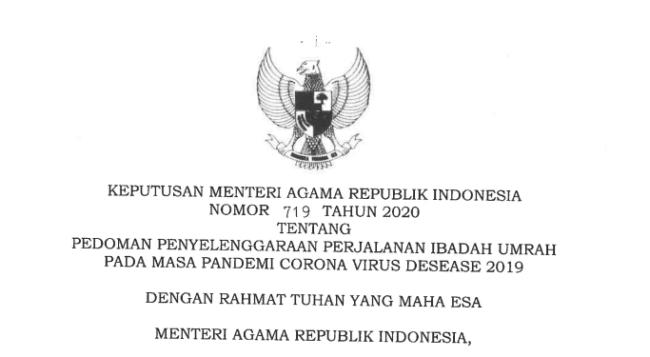 Menteri Agama Terbitkan Keputusan tentang Pedoman Umrah di Masa Pandemi 113