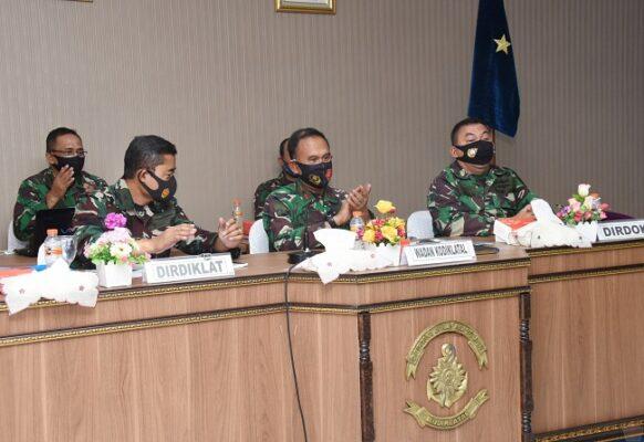 Wadan Kodiklatal Laksanakan Vicon dengan Srena Mabesal Terkait Validasi Organisasi 113