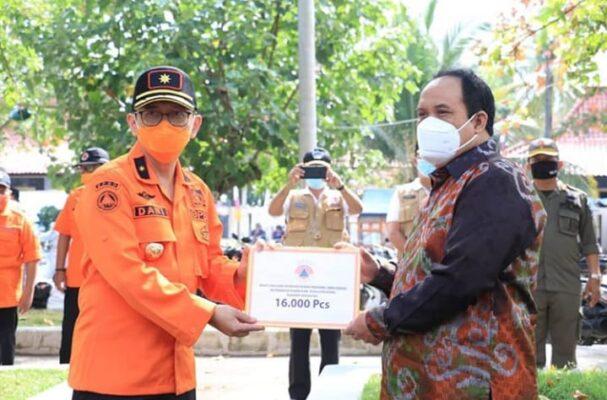 Pangandaran Terima Bantuan 16 Ribu Masker dari BPBD Jabar 113