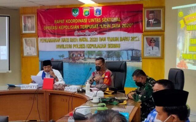 Kapolres Kep Seribu Pimpin Rakor Lintas Sektoral Ops Lilin Jaya 2020 113