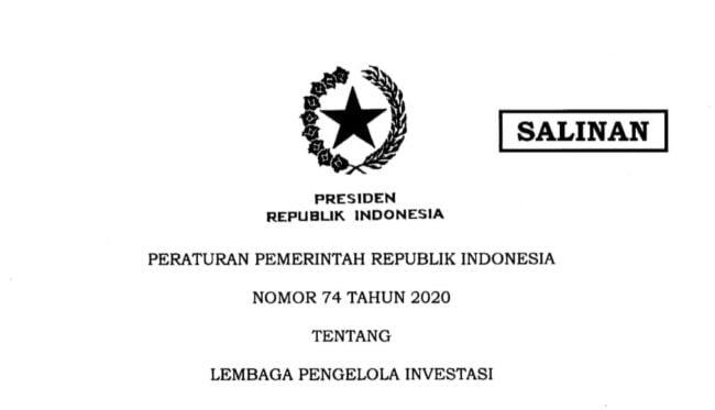 Pemerintah Terbitkan PP Tentang Lembaga Pengelola Investasi 113