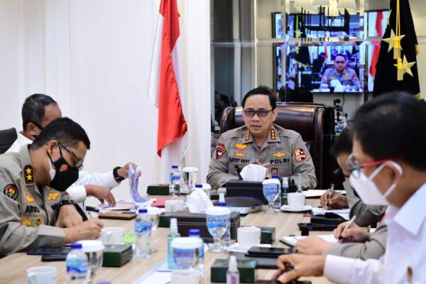 Kabaharkam Polri Dampingi Wakapolri Vicon dengan Kapolda se-Indonesia 113