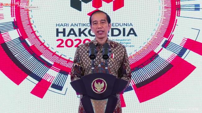 Peringatan Hakordia 2020, Presiden Jokowi: Pemberantasan Korupsi Tak Boleh Padam 113