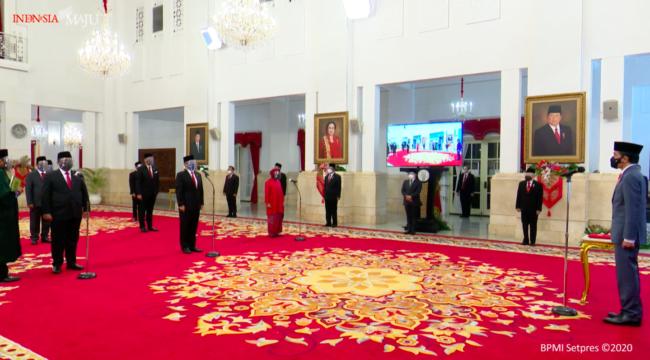 Presiden Jokowi Lantik Menteri dan Wamen Kabinet Indonesia Maju 113