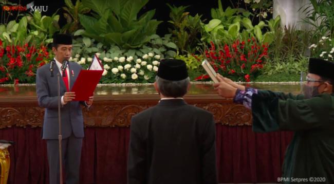 Presiden Jokowi Lantik Kepala BNN dan Kepala Badan Restorasi Gambut dan Mangrove 113