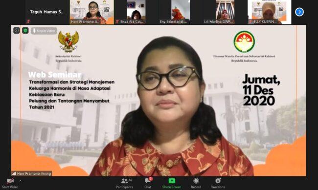Sambut HUT dan Hari Ibu, DWP Setkab Gelar Webinar Manajemen Keluarga Saat Pandemi 113