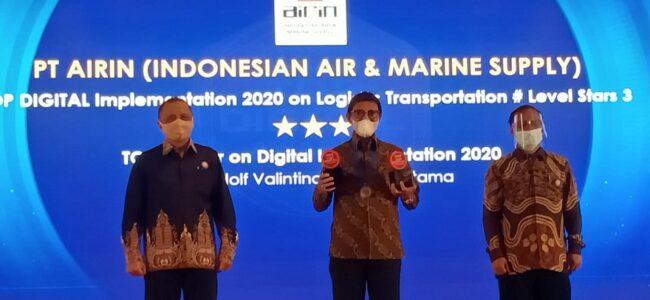 Dirut PT Airin Raih Top Leader On Digital Implementation 2020 Versi Majalah ItWorks 111