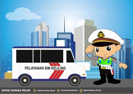 Lima Lokasi Layanan SIM Keliling di Jakarta Hari ini, Senin 21 Desember 2020 113