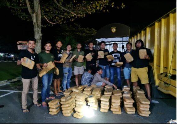 Polisi Gagalkan Penyelundupan Ratusan Kilogram Narkoba Lintas Provinsi 113