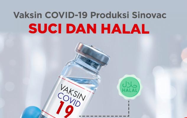 MUI Tetapkan Vaksin COVID-19 Produksi Sinovac Halal dan Suci  Sumber: https://setkab.go.id/mui-tetapkan-vaksin-covid-19-produksi-sinovac-halal-dan-suci/ 113