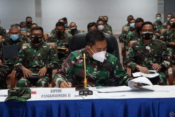 Aspers Pangkoarmada II Ikuti Vicon Community Personel Dengan Kepala Staf TNI AL 113