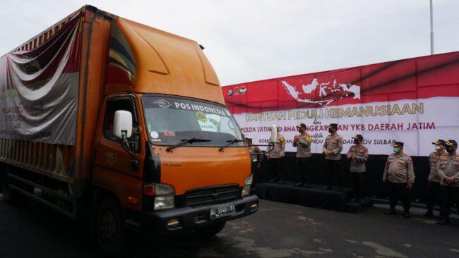 Polda Jatim dan Bhayangkari Berangkatkan 25.165 Ribu Paket Sembako ke Korban Banjir dan Gempa Bumi 111