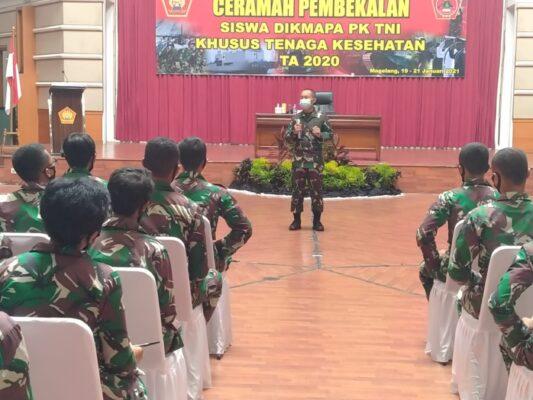 164 Siswa Dikma Pa PK TNI Khusus Tenaga Kesehatan Terima Pembekalan 111