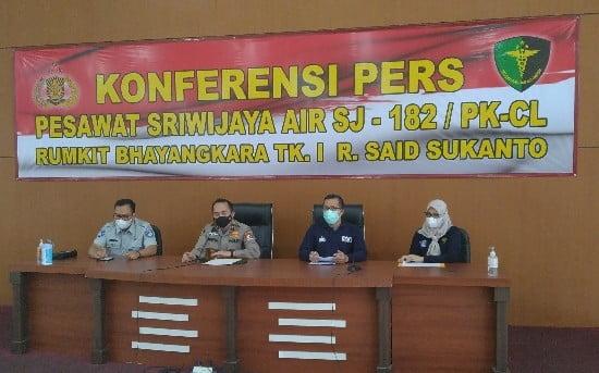 Tambah Lagi, DVI Polri Sudah Identifikasi 49 Korban Sriwijaya Air 111