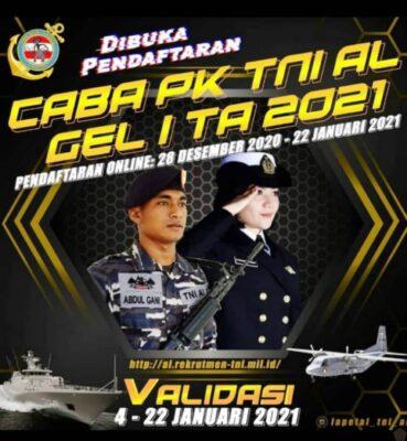 Lantamal VI Buka Pendaftaran Prajurit Caba PK TNI AL Gel. I TA 2021Pengawak Kapal Perang dan Korps Marinir 111