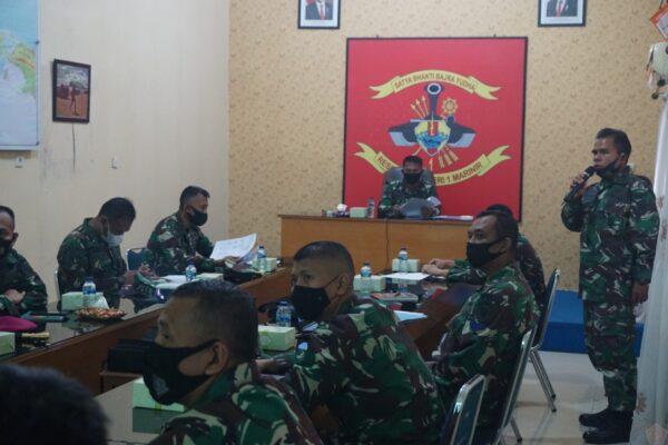 Wadan Menkav 1 Marinir Pimpin Rapat Penempatan Jabatan Perwira 113