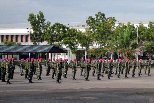 Prajurit Yonif 1 Brigif 2 Marinir Pasmar 2 Siapkan Satgas Penanggulangan Bencana 111