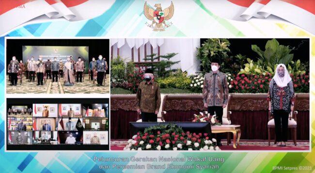 Presiden Jokowi Luncurkan Gerakan Nasional Wakaf Uang & Resmikan Brand Ekonomi Syariah 113