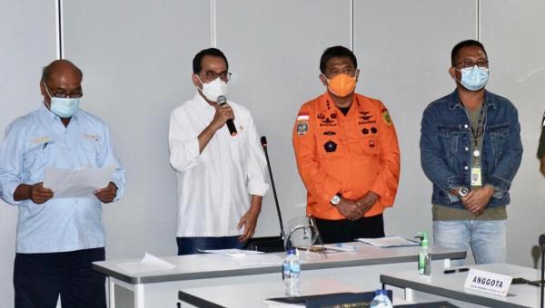Kemenhub Bersama Stakeholder Sampaikan Kronologis Sementara Pesawat Sriwijaya Yang Hilang Kontak 113