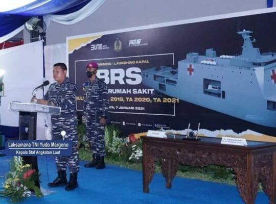 PT PAL Indonesia (Persero) Sukses Luncurkan Kapal Bantu Rumah Sakit (BRS) Pesanan TNI AL 113