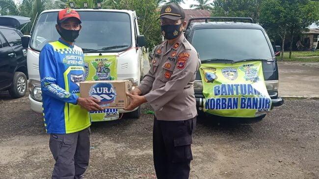 Penyerahan Bantuan Sekaligus Pemberangkatan Tim Relawan Korban Banjir Kab. Hulu Sungai Tengah Oleh Kapolsek Murung Pudak 115