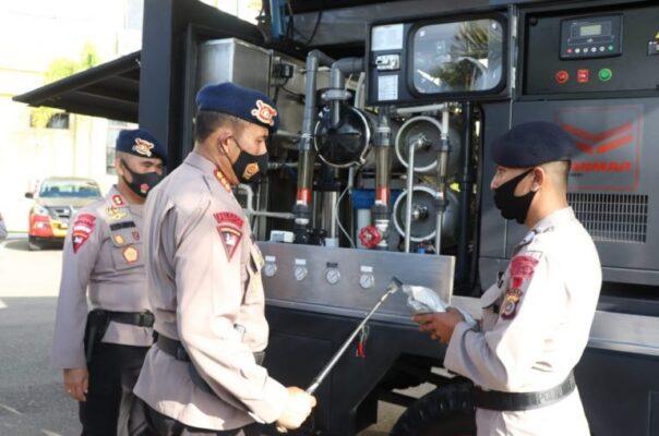 Dansat Brimob, Cek Kelengkapan Kendaraan dan Persenjataan Sat Brimob Polda Aceh 111