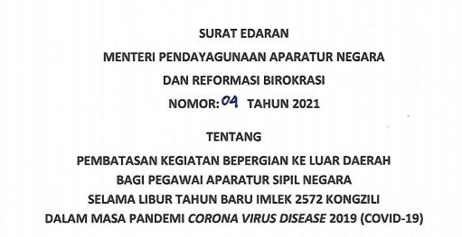 Menteri PANRB : ASN Dilarang Bepergian Saat Libur Imlek 111