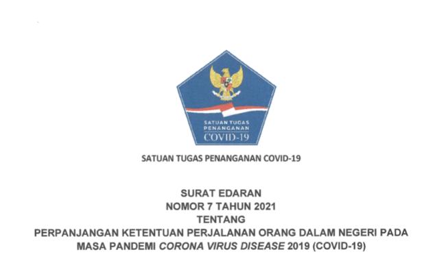 Inilah Edaran Satgas COVID-19 tentang Perjalanan Dalam Negeri di Masa Pandemi 113