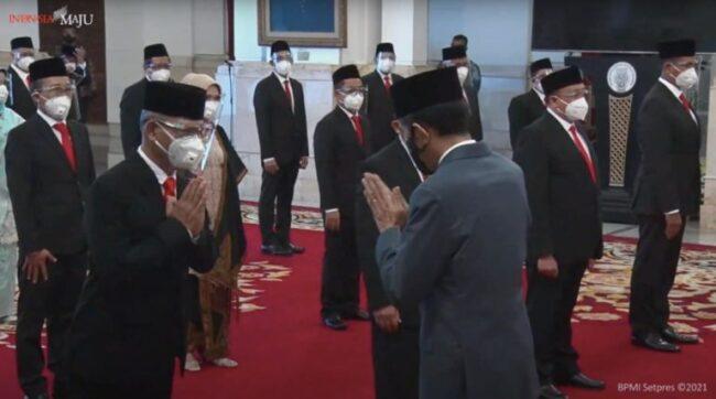 Presiden Jokowi Lantik Anggota Dewan Pengawas & Direksi BPJS Kesehatan & BPJS Ketenagakerjaan 113