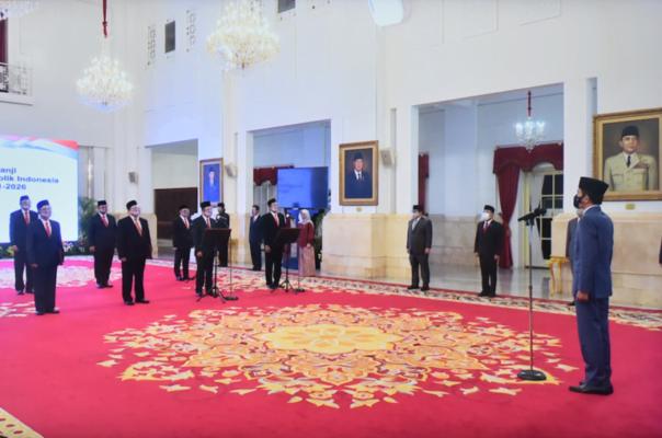 Presiden Jokowi Saksikan Pengucapan Sumpah/Janji Anggota Ombudsman Republik Indonesia 113