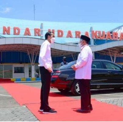 Presiden Jokowi Resmikan Terminal Baru Bandara Kuabang di Halmahera Utara 113