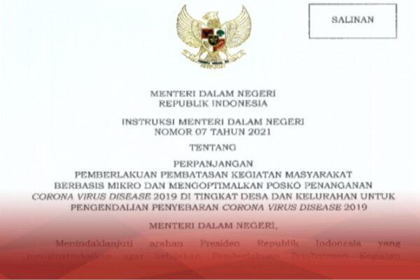 Mendagri Terbitkan Instruksi Mengenai Pelaksanaan PPKM Mikro di 20 Provinsi 113